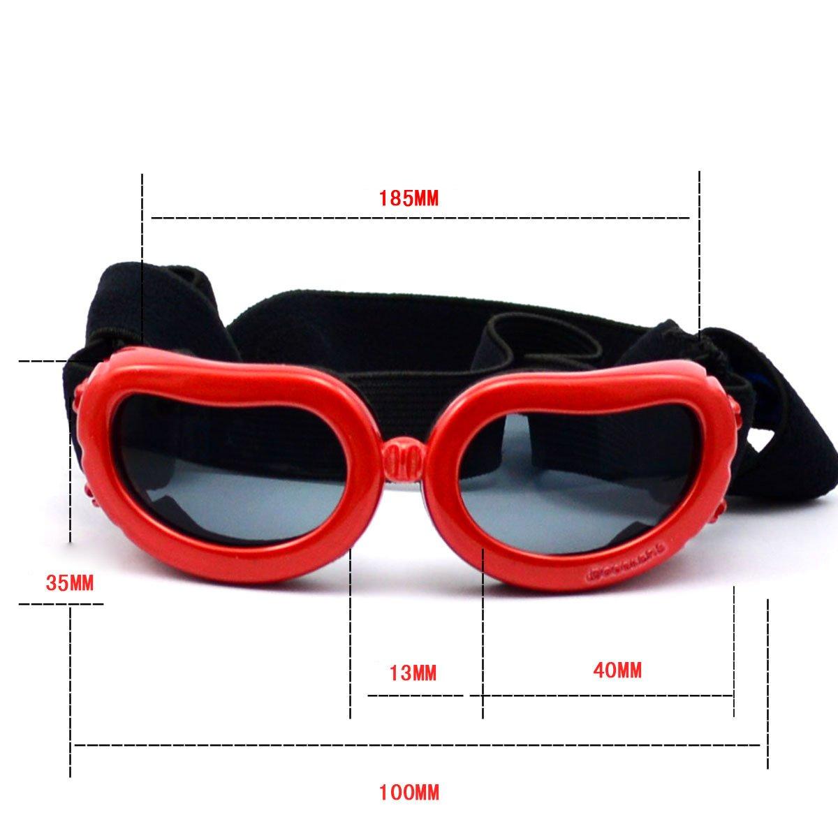 Homedecoam Hund Brille Sonnenbrille UV-Schutz Anti-Fog Brille f/ür Ultra-kleine Hunde
