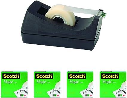 Pack oficina 4 cintas adhesivas + portarollos: Amazon.es: Oficina ...