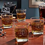 Hamilton Custom Rocks Glasses for Lawyers, Set of 4 For Sale