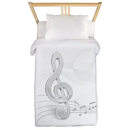 Copripiumino Note Musicali.Cafepress Chiave Di Violino Note Musicali Twin Piumone Doppio