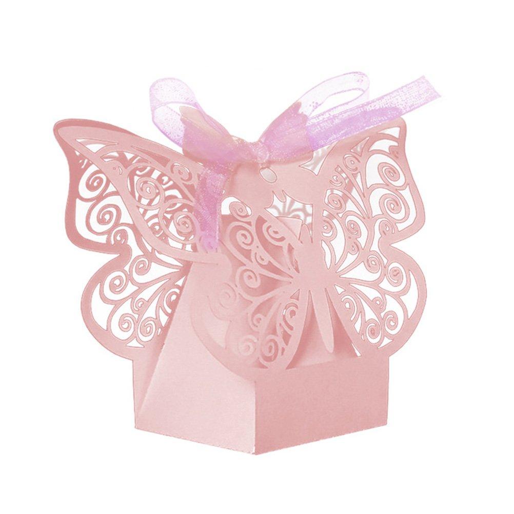 Amazon.com: EBTOYS 50pcs Laser Cut Wedding Favors Candy Boxes ...