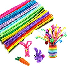 """Wiwaplex 150 Pcs 12"""" X 6mm Colorful Chenille Stems Pipe Cleaners Children Kids Plush Educational Toy Crafts Handmade DIY Craft"""