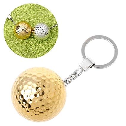 YiFeiCT® - Llavero con Forma de Pelota de Golf, diseño Redondo, Ideal para Deportes
