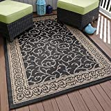 Lavish Home Ornate Vine Indoor/Outdoor Area Rug, 5′ x 7'7″, Black Review