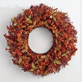 "Brylanehome 26"" Harvest Berry Wreath (Orange Red,0)"