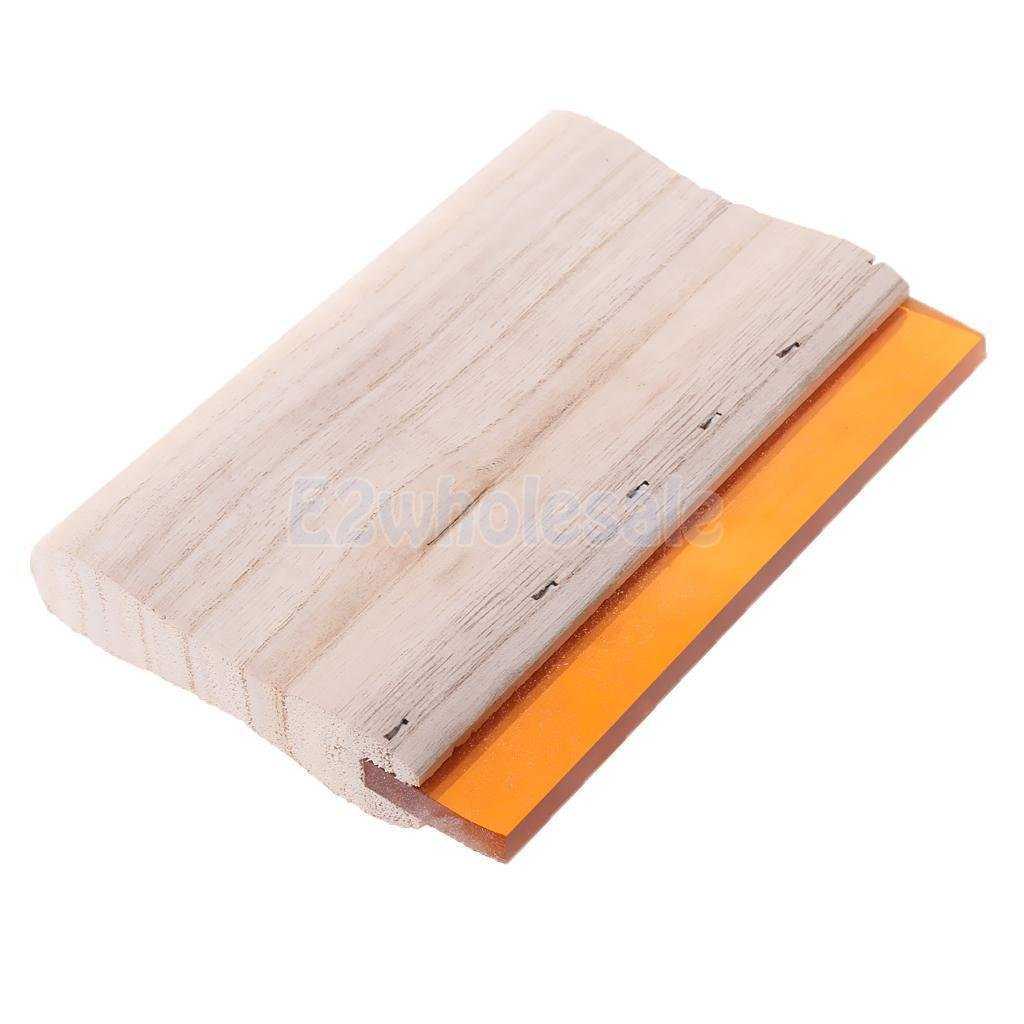 Screen Printing Squeegee Wood Handle Scraper Scratch Board 15cm 70 Hardness