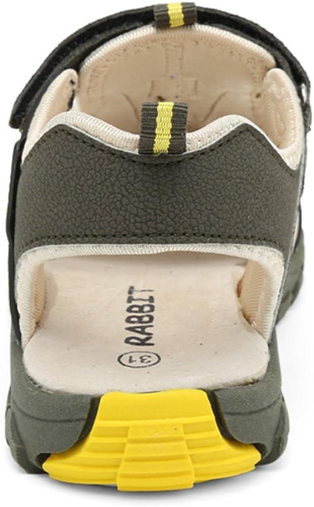 SAGUARO Geschlossene Sandalen Jungen Trekking Wandern Sommer Outdoor Schuhe Atmungsaktiv mit Klettverschluss