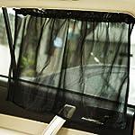 VIPASNAM 2pc Car Sun Shade Side Nylon Mesh Window Curtain Foldable Sunshade UV Protection