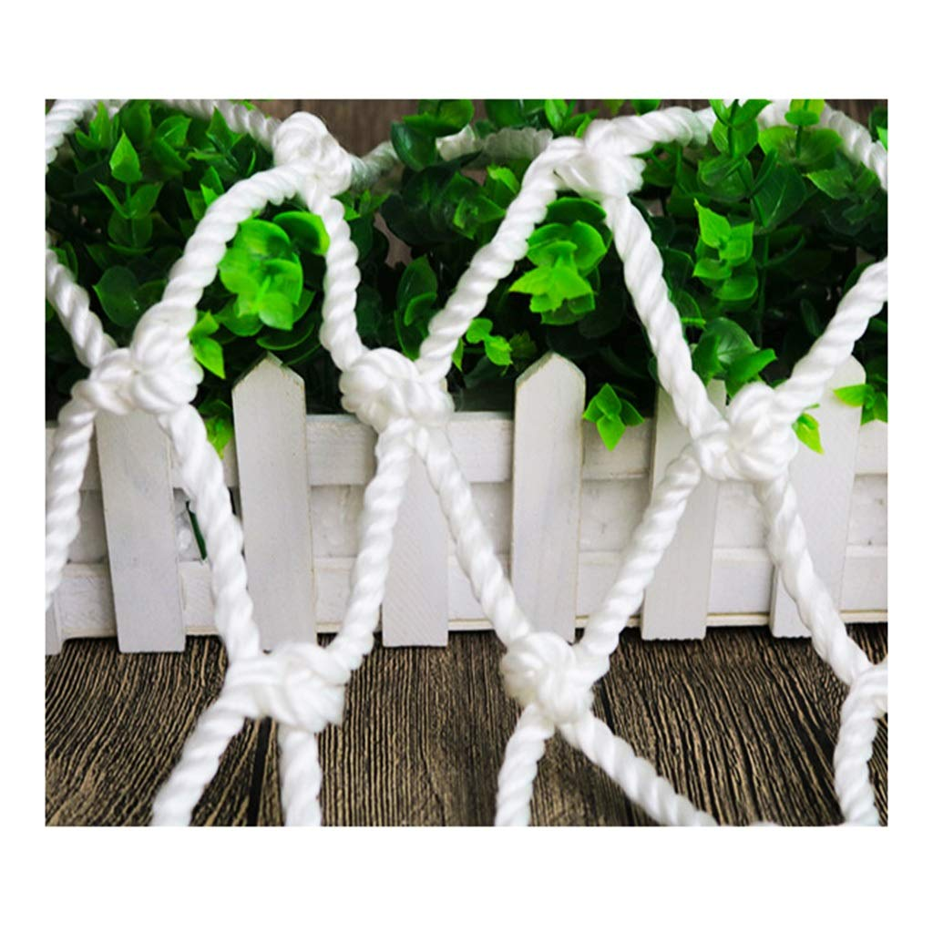 Child Safety Protective Net, White Balcony Stairs Window Baby Anti-Fall Net, Kindergarten Playground Garden Plant Decoration Net, Grid 8mm 8cm (Size: 2 2M) (Size : 13M)