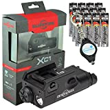 SureFire Weaponlight XC1-B Compact Handgun Light with 12 Extra Energizer AAA Batteries and Lumintrail Keychain Light