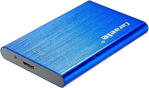 KESOTO 外付ハードドライブ USB3.0 2.5インチ HDDエンクロージャー 金属製 ポータブル - 500GB