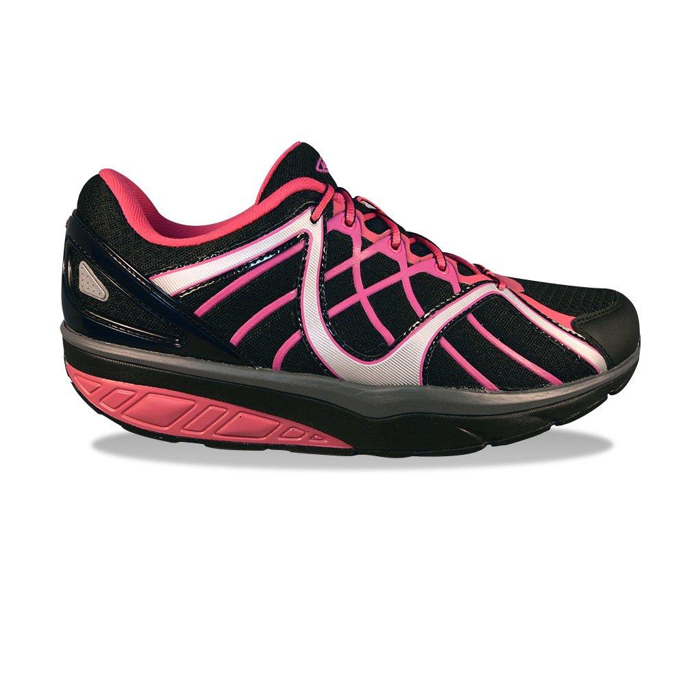MBT Women's Jahi Sport (LE) Walking Shoe B00XLSFHIS 37 M EU / 6-6.5 B(M) US Black/Silver/Fushia