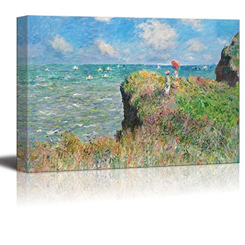 Cliff Walk at Pourville by Claude Monet Print Famous Painting Reproduction