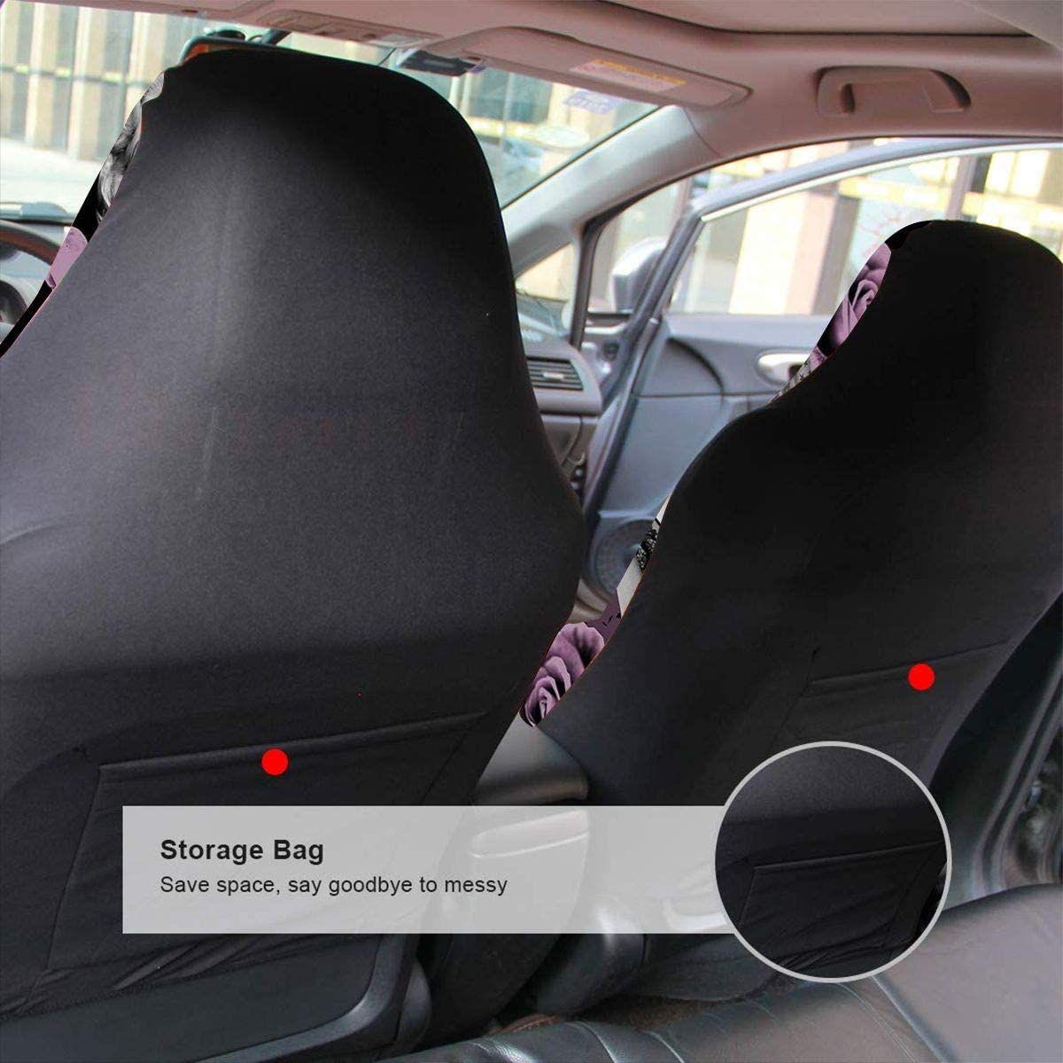 2 PCS Truck Backing-Universal Fit SUV FUNK-P STAR Car Mat Cover Car Seat Covers Car