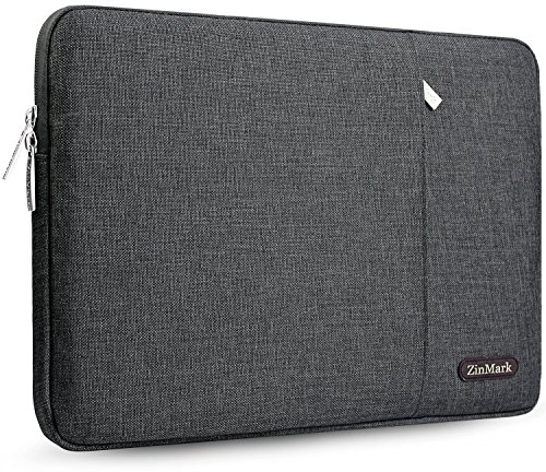 ZinMark Laptop Sleeve Case 13-13.3 Inch, Compatible MacBook Air 13 (2012-2017) / MacBook Pro 13 Without Retina A1278 and Most 14 Inch Notebook, Spill-Resistant Protective Sleeve, Dark Gray