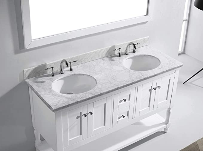 Virtu md-3160-wmro-wh Julianna doble armario de mueble de baño Set, 60