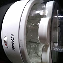 1.1 litros Bomann JM 1025 CB Yogurtera 7 tarros 14 W Transparente//Blanco