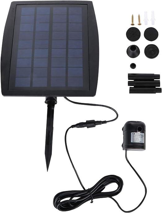 ounona 2,5 W solar Bomba de agua exterior de riego sumergible Fuente para Estanque Piscina Acuario caño Jardín Terraza máxima Río 300L/H: Amazon.es: Juguetes y juegos