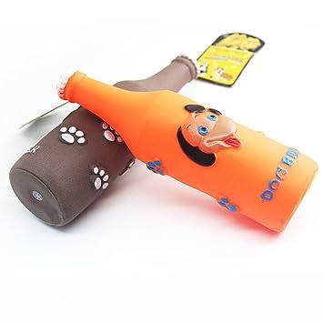Emorias 1 Pcs Juguetes de Perros Botella de Cerveza Masticar Rascador para Gatos Mordida Dientes Mascotas Entrenamiento Accesorios: Amazon.es: Jardín