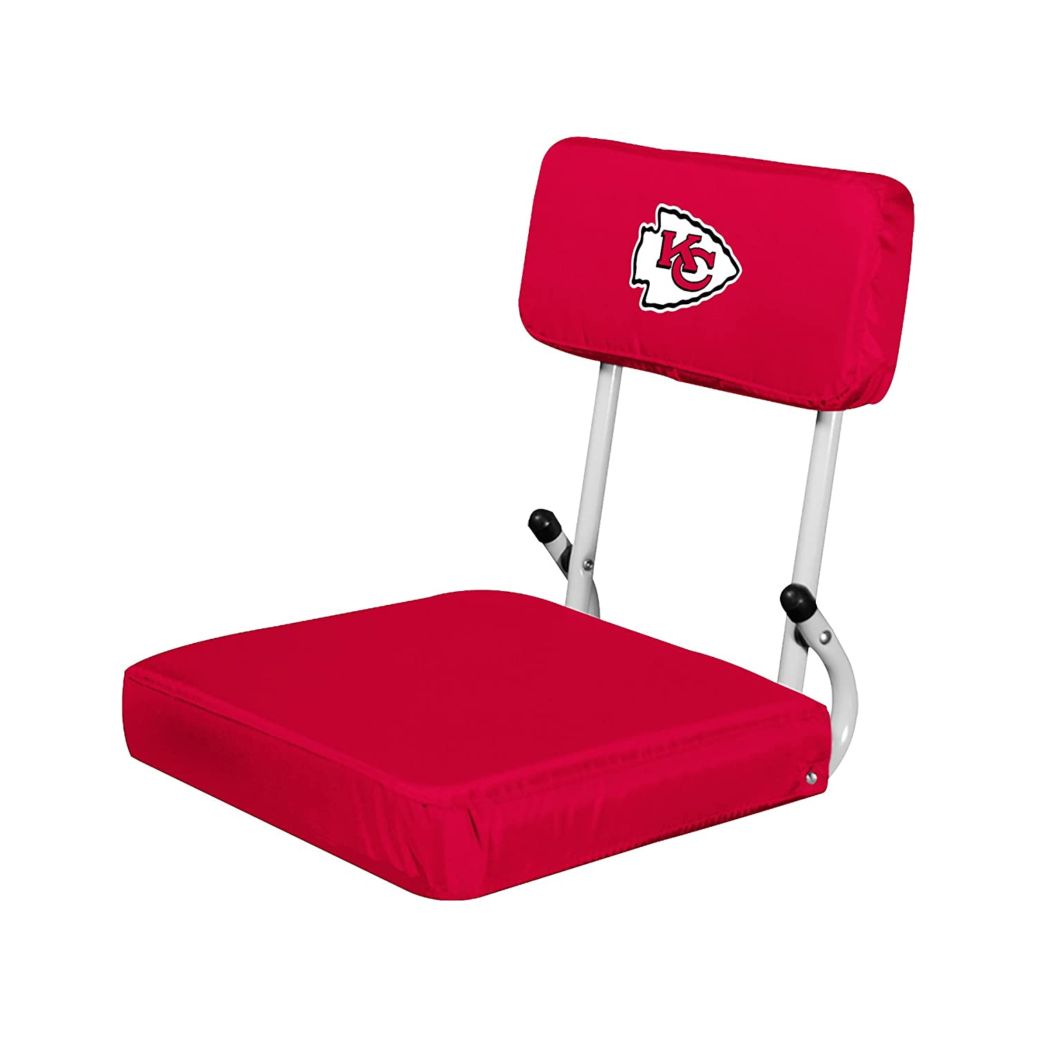 (Kansas City Chiefs, One Size) - NFL Collapsible Hardback Portable Seat with Metal Bleacher Attachment   B06W2H96HL