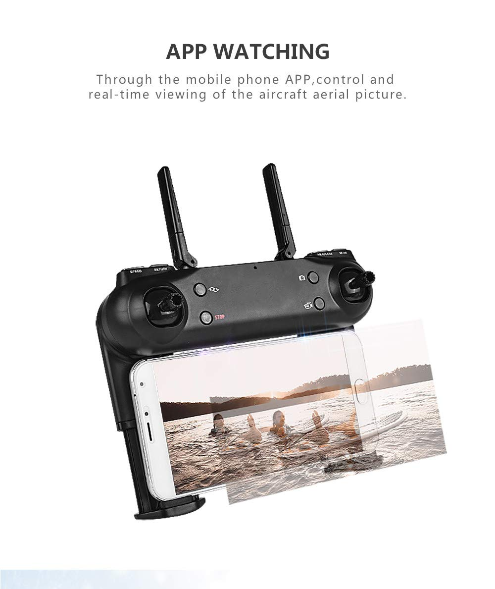 LikeroNew SG700-D 2.4Ghz 4CH Wide-Angle WiFi 4K HD Dual Camera Optical Flow RC Quadcopter Drone Hover,Beginners -Controlled Through The Mobile Phone App -One-Key Start&one-Key Landing (Black) by Likero (Image #6)