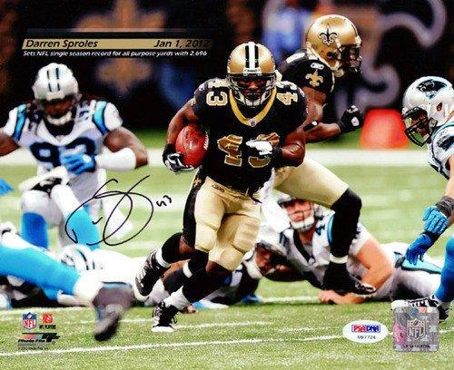Darren Sproles Signed 8x10 Photo New Orleans Saints - PSA/DNA Authentication - Autographed NFL Football Photos