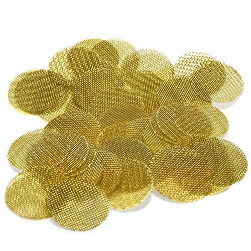 25 Beamer Premium Brass Screens 0.750' (3/4') Inch Size + Limited Edition Beamer Smoke Sticker