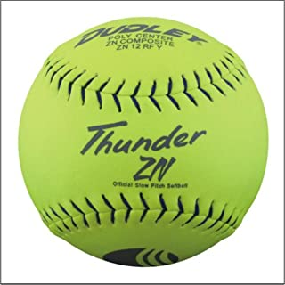 Dudley Usssa Thunder ZN – Slow Pitch Softball .47 COR – Stade Tampon – Lot de 12 4U-528Y