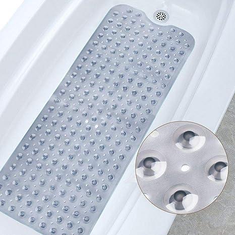 latexfrei Antirutsch Badewanneneinlage Extra Lang Badematte rutschfeste Duschmatte 88 x 40 cm Ksnrang Badewannenmatte f/ür die Badewanne maschinenwaschbar Blau