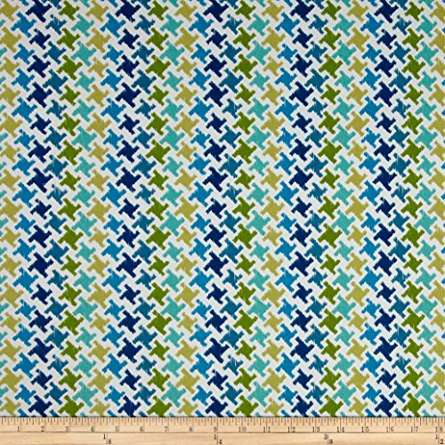Houndstooth Upholstery - Tempro Fabrics 0432737 Terrasol Indoor/Outdoor Highland Ocean Fabric by The Yard