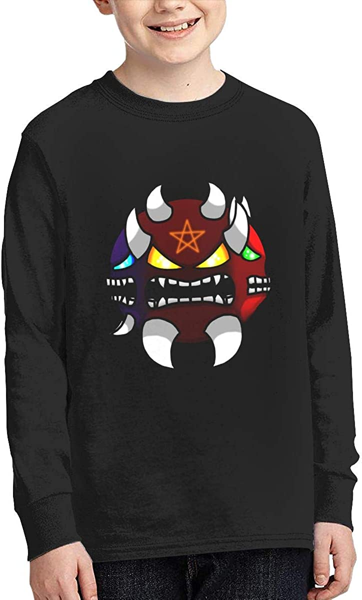 NOT Geometry Dash Boys/Girls Cotton Long Sleeve Graphic Shirt Teenage Top Tee