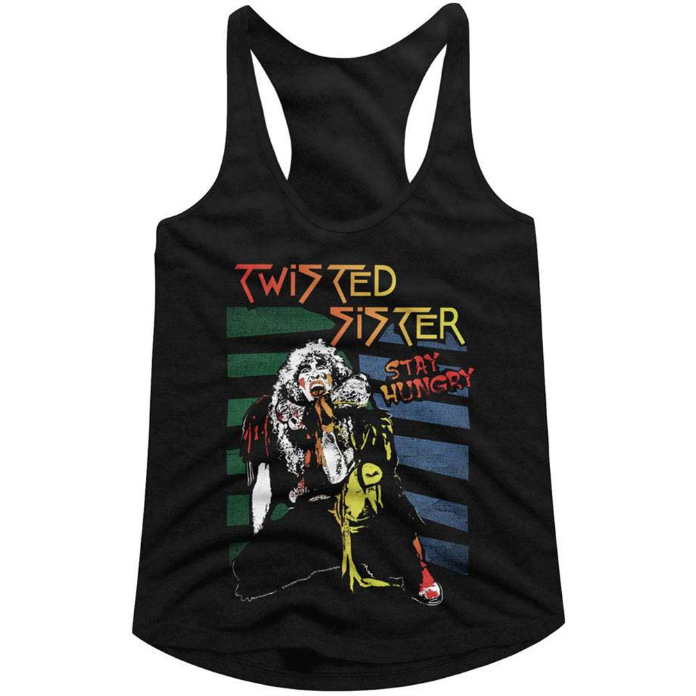 Twisted Sister American Heavy Metal Band Stay Hungry Racerback Tank Top Shirts