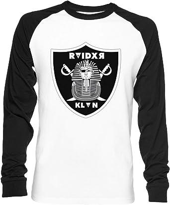 Raider Klan Unisex Camiseta De Béisbol Manga Larga Hombre Mujer Blanca Negra: Amazon.es: Ropa y accesorios