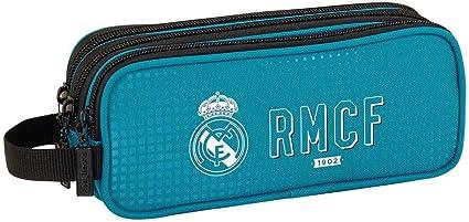 Safta Estuche Real Madrid 3ª Equip. 17/18 Oficial Triple cremallera 210x70x85mm, 2018, azul, poliéster: Amazon.es: Ropa y accesorios