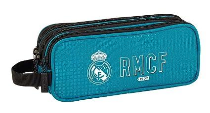 Safta Estuche Real Madrid 3ª Equip. 17/18 Oficial Triple cremallera 210x70x85mm, 2018, azul, poliéster