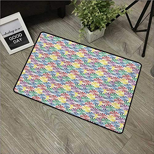 (Anzhutwelve Abstract,Carpet Flooring Geometrical Spherical Pattern with Colorful Lines Design Vintage Inspiration Image W 24