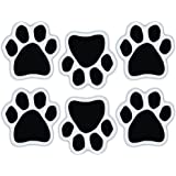 Mini Dog Paw Magnets (Set of 6) - Black Paws - Decorate Your Car, Refrigerator and More
