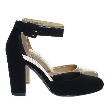 b104c94feb3 City Classified Chunky Block Heel Dress Pump w Comfortable Foam Padding &  Ankle Strap