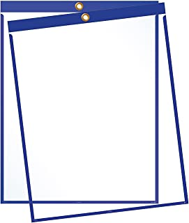 "product image for EnvyPak Job Ticket Holders - 9""x12"" - Pack of 30 (Blue) Top-Loading with Eyelet for Hanging"