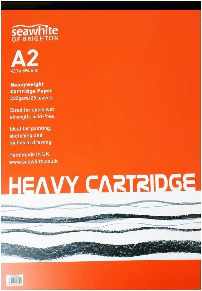 Seawhite Artist Cartridge Paper Pads 140gsm All Media Acid Free A2//A3//A4//A5
