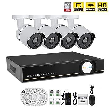 IMATEK Sistema de vigilancia de casa 960P,4CH PoE NVR Kit w / 4PCS 960P