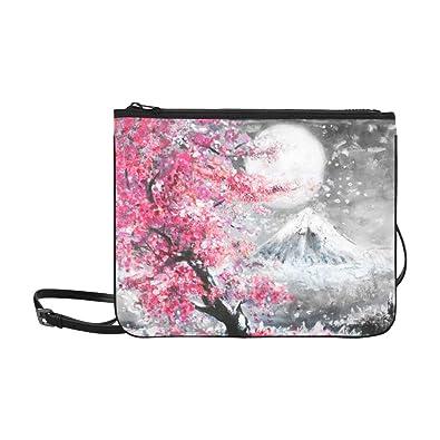 Amazon.com: Bolsa de nailon fina, diseño de árbol de montaña ...