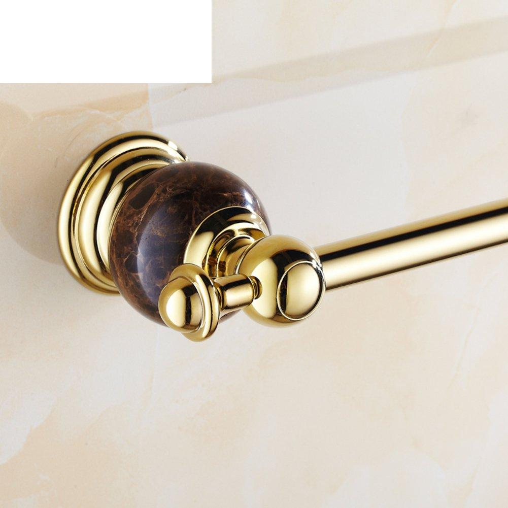 バスルームアクセサリー/ Jadeシングルタオルバー/大理石アンティーク真鍮タオルラック/ Golden Singleバータオルrack-b B06X6NMNC9