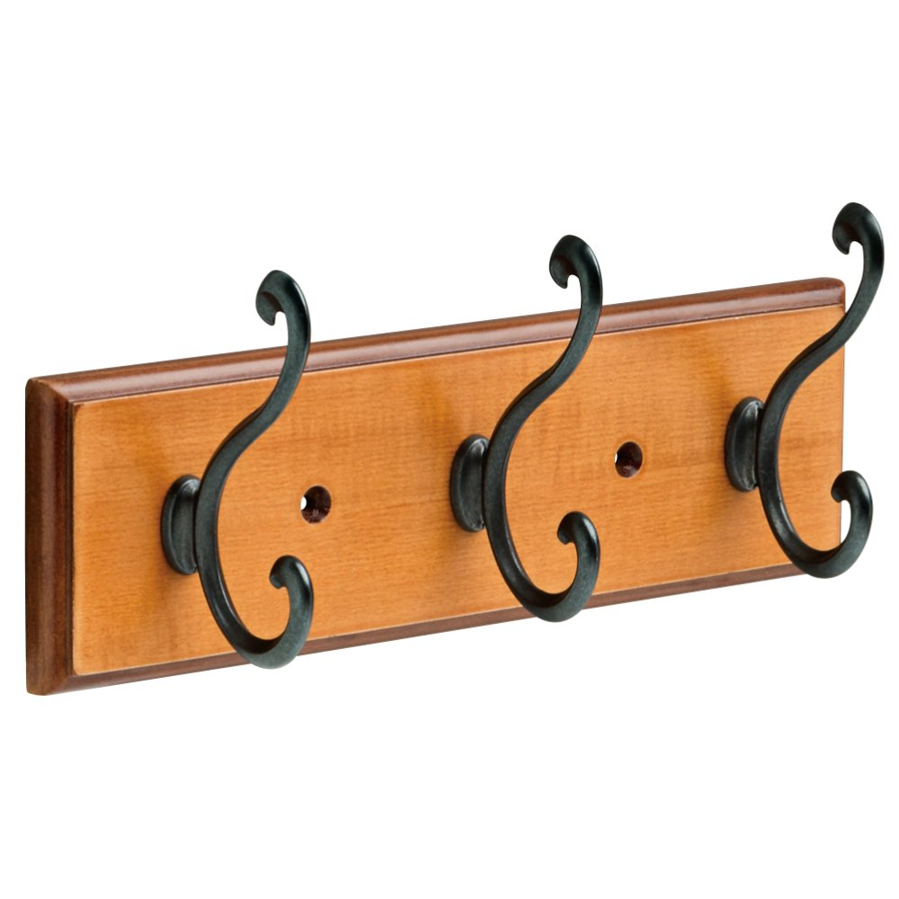 Franklin Brass FBLDSH3-BOB-R 9.5' Rail with 3 Scroll Hooks, Bark & Oil-Rubbed Bronze Liberty Hardware