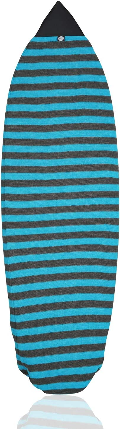 wonitago Surfboard Sock Cover - Knit Protective Board Bag (Shortboard, Longboard, and Hybrid) Size 6'0, 6'3, 6'6, 7'0