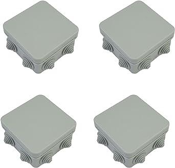 Pack de 4 x IP55, gris resistente al agua caja de derivación terminal Caja externa CCTV tetera els: Amazon.es: Iluminación