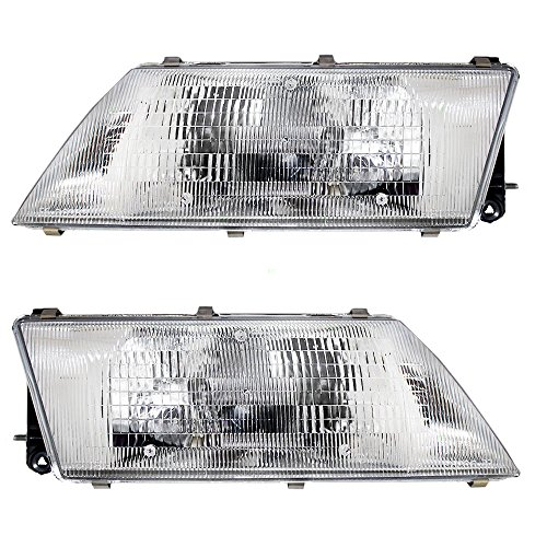 (Driver and Passenger Headlights Headlamps Replacement for Nissan 26060-1M325 26010-1M325 AutoAndArt)