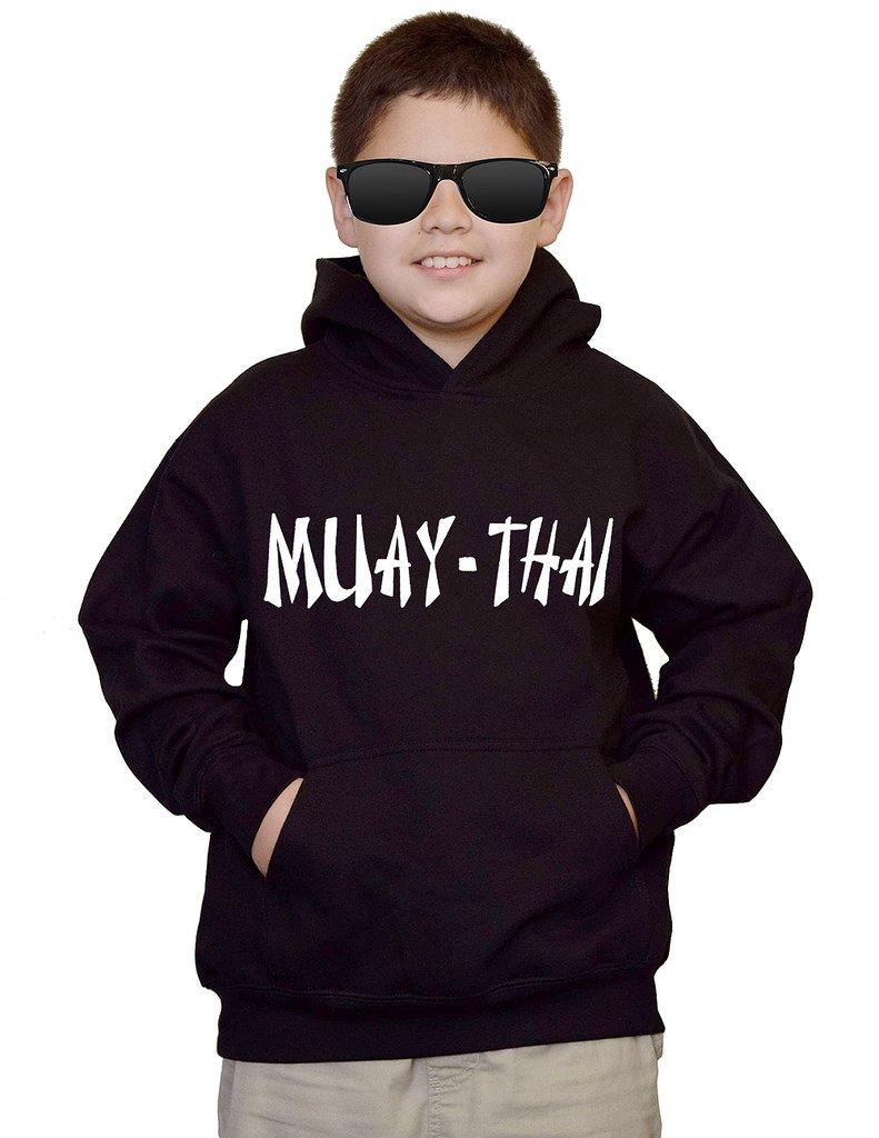 Youth Muay-Thai MMA V442 Black kids Sweatshirt Hoodie Small