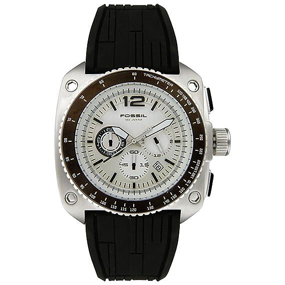 Fossil CH2576 - Reloj para hombres, correa de silicona color negro