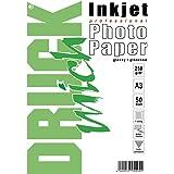 Confezione 50 Fogli Carta Fotografica A3 Premium Foto Glossy Lucida 250 Gram. Per Stampanti INKJET 297x420 mm